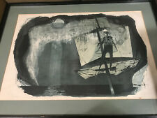 "Rare Benton Spruance 1966 ""The Spirit Spout"" Lithograph - AP- Signed/Framed"