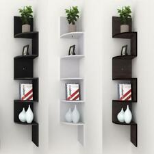 Modern 5 Tier Corner Floating Shelves Wall Mount Display Shelf + Finish 05