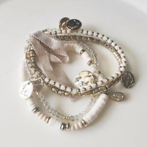 New Loft Beads Multi-Strands Elastic Bracelet Gift Fashion Women Party Jewelry