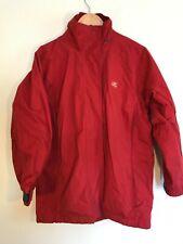 Tresspass Ladies Jacket Coat Small (12) Red Waterproof Windproof Taped Seams