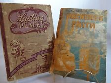 "1942-1943 Stamps Baxter Church Hymnals ""Lasting Peace"" & ""Anchored Faith"""