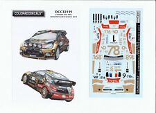 NEW ! DECALS 1/32 CITROËN DS3 WRC #1 S.LOEB ALSACE 2013 - COLORADO  32195