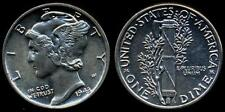 USA  Mercury Dime AG  1943  UNC