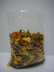 """Clear Plastic Bags 10"""" x 15"""" 120g Pack of 100 Suitable for food use"""