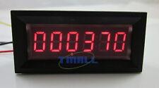 6 Digit Red LED Counter Panel Meter DC 8-12V Up Plus Totalizer 0-999999