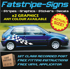CITROEN SAXO CAR VINYL GRAPHICS STRIPES DECALS STICKERS VTR VTS CHECKER FLAG 1.6