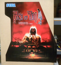 39 1/2h-34 1/2''w HOUSE OF THE DEAD sticker zombie wall paper arcade game part