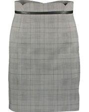 BNWT - KAREN MILLEN - Black & White Check Mini Straight Skirt - UK 8