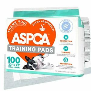 """ASPCA AS62930 Dog Training Pads Pack of 100 Gray 22"""" x 22"""" - Pack of 100"""