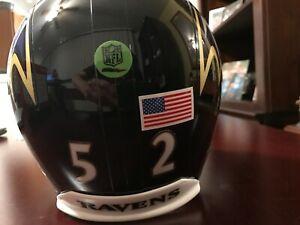 Baltimore Ravens Full Size Custom Ray Lewis Helmet
