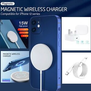 15W Magnetic Mag safe Fast Charging Charger Pad For iPhone12 Pro Max 12 Mini