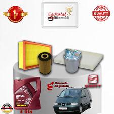 TAGLIANDO FILTRI + OLIO SEAT ALHAMBRA 1.9 TDi 85KW 115CV DAL 2002 -> 2010