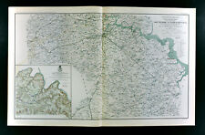 Civil War Map James River Virginia Petersburg Chancellorsville Forts Railroads