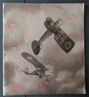 MENU 1935 aviation Tours général MASSENET Escadrille Cigogne restaurant card