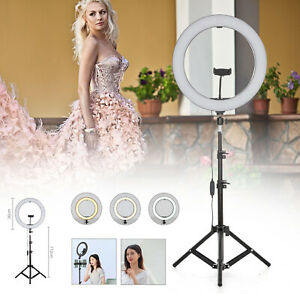 "14"" LED Ring Light with Stand for Youtube Tiktok Makeup Video Live Phone Selfie"