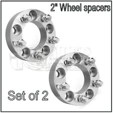 "Wheel Spacers | 5x114.3 / 5x4.5 |1/2X20 | 2"" 50mm Adapters Ford Mustang X2"
