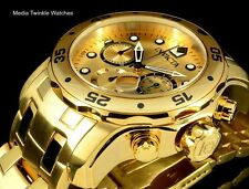 Invicta 48mm ProDiver Scuba Quartz Chronograph 18K Gold Plated Bracelet Watch