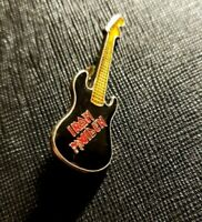 Iron Maiden Guitar Pin Vintage very rare 80's old memory collectible