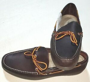LL Bean 130448 Handsewn Moccasins Camp Moc Boat Shoes Loafers Dark Brown 12 EE