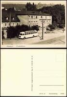 Ansichtskarte Radebeul Bus Straßen Partie Landesbühnen Sachsen, DDR AK 1968