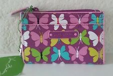 Vera Bradley Slim Coin Purse - Flutterby Butterflies - New With Tags!