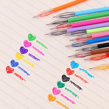 12Pcs set Diamond Gel Pen School Supplies Draw Colored Pens Student Multi Color