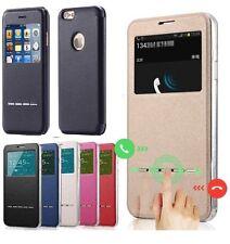 360°Case Cover Smart Window View Slip Case For Samsung S6 Edge iPhone8 6 7 Plus