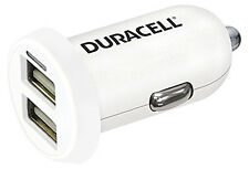 Duracell DR5015W Dual InCar Charger 2.4a 1a Head Only White E