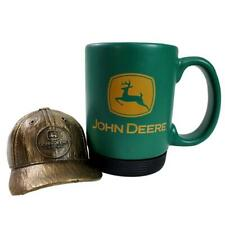 John Deere Baseball Cap Paperweight Coffee Cup Mug Detachable Rubber Bottom