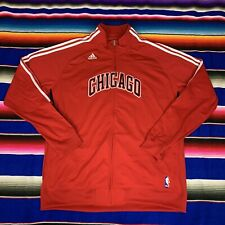 Chicago Bulls NBA Mens XXL Adidas Warm Up Red Track Jacket VGC