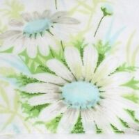 Vintage Springmaid Floral Flat Sheet Full Wondercale Blue Daisy