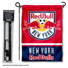 New York Red Bull Garden Flag and Yard Pole Stand Included