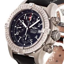 Breitling Super Avenger Chronograph Automatik Titan an Lederband Ref. E13360 Ful