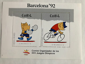1992 BARCELONA OLYMPIC  LOGO .Boxing and Cycling Numbered stickers.No.001159