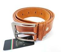 ds Cinta Cintura Uomo Pelle Marrone A-095 Elegante Glamour Fashion Alla Moda hac