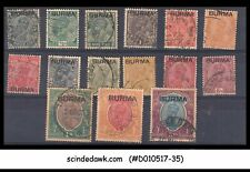 BURMA - SELECTED KGVI STAMPS - OVERPRINTED - 15V - USED