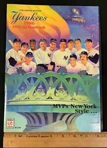 1986 VINTAGE OFFICIAL NEW YORK YANKEES BASEBALL 37TH ANNUAL YEARBOOK