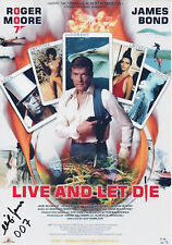 CLIFTON JAMES Signed 12X8 Photo JW PEPPER In LIVE AND LET DIE 007 COA