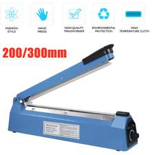 Hot 8/12 Hand Impulse Heat Heating Sealers Plastic Bags Film Sealing Machine UK