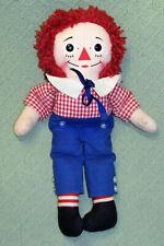 "16"" Vintage KNICKERBOCKER Raggedy Andy Plush Stuffed Doll GRUELLE Sailor Cap Toy"