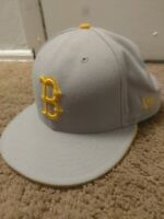 New Era Fitted Hat 7 5/8ths Boston Red Sox Grey/Yellow 59Fifty