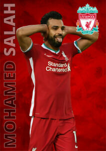 Mohamed Salah Liverpool FC Poster Football Wall Art A3 and A4