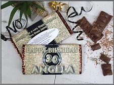 Personalised Happy Birthday Galaxy Chocolate Bar 18th 21st 30th 40th Gift N66