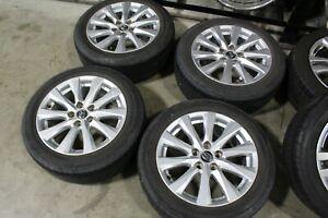 "17"" Toyota Camry Factory OEM Silver Wheels Rims Bridgestone Tires 75220"