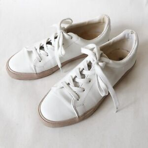 SPORTSGIRL White Lace Up Flat Sneakers Shoes Size 40 Casual Street