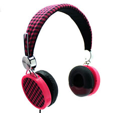 NEW LAXMAX HD Stereo Headphones in Pink - SALE