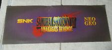"Damaged snk original Samurai Shodown 4 26 1/4-9 1/2"" Neo Geo sign marquee cF89"