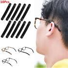 10Pcs Silicone Eyeglasses Non-slip Tips Covers Case Sleeve Soft Ear Hooks Black
