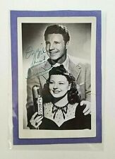 Ozzie Nelson and Harriet Nelson Signed Postcard