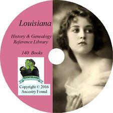 140 old books - LOUISIANA  - History & Genealogy Family Ancestry - DVD CD LA